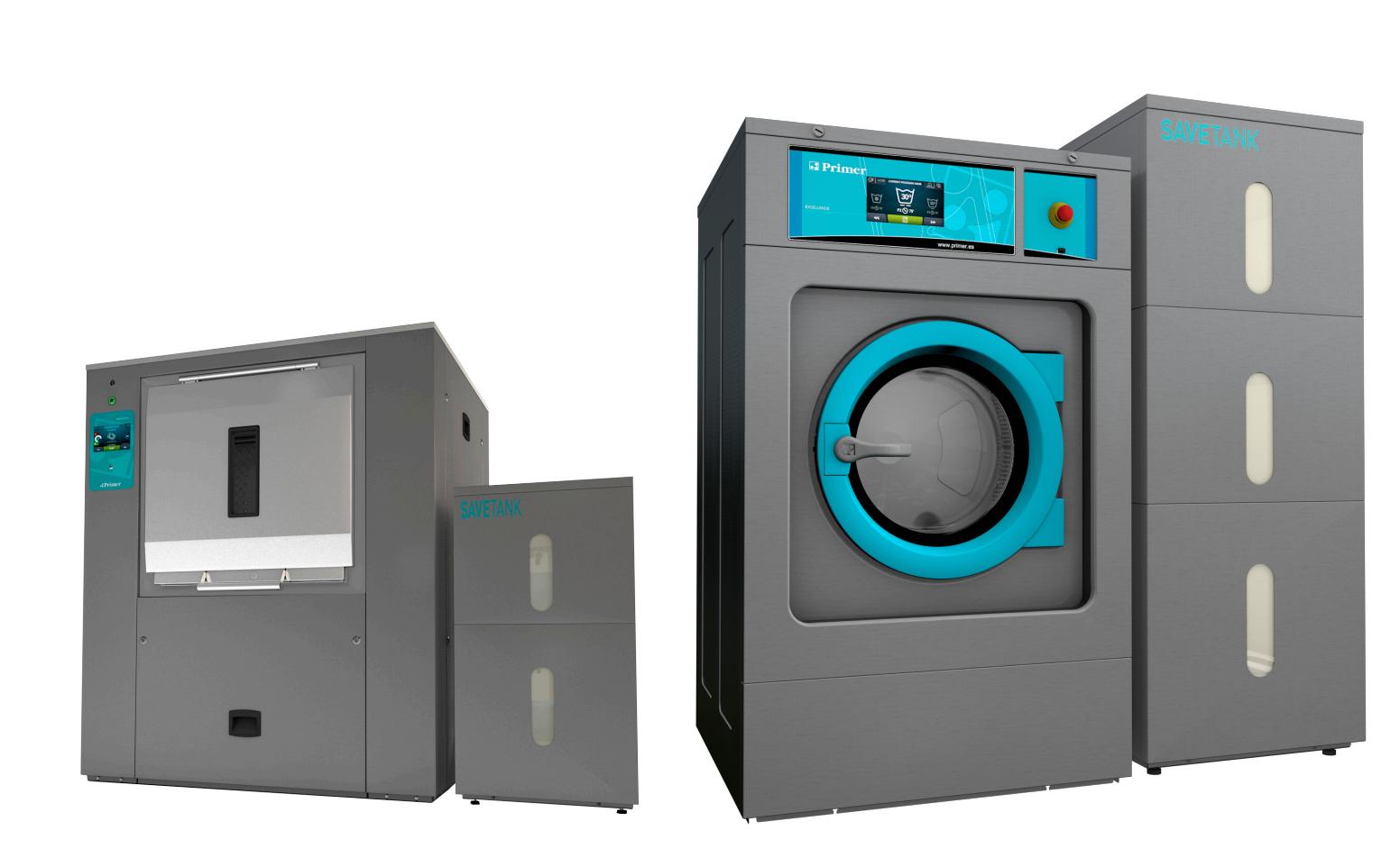 consumo agua lavadora industrial